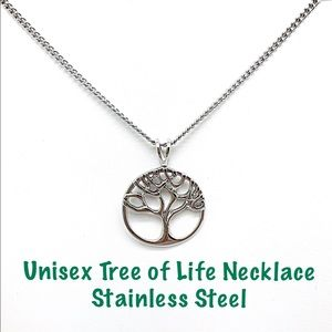 Tree of Life Stainless Steel Unisex Necklace NWT